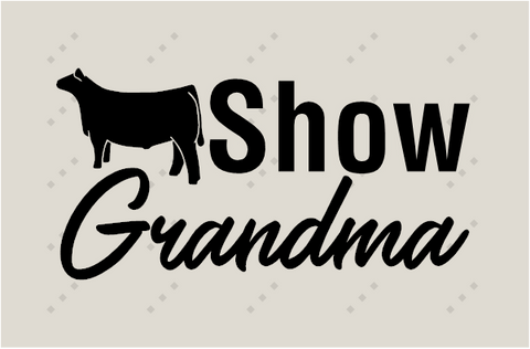 SHOW GRANDMA-CATTLE