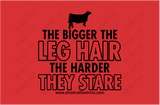 THE BIGGER THE LEG HAIR-CATTLE