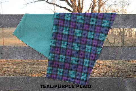 TEAL/PURPLE PLAID