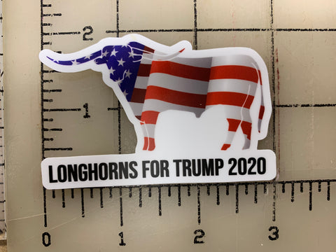 LONGHORNS FOR TRUMP STICKER [YOU CHOOSE SIZE!]