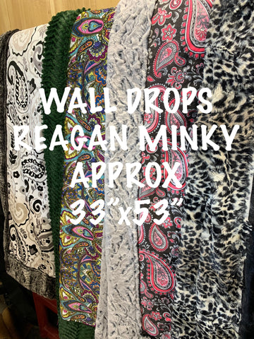 REAGAN MINKY WALL DROPS