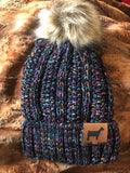 FUR POM BEANIE [YOUR CHOICE OF ANIMAL]