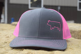 Charcoal Grey/Neon Pink Species Cap