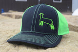 Black/Neon Green Species Cap