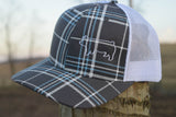 Charcoal/Blue Plaid Species Cap
