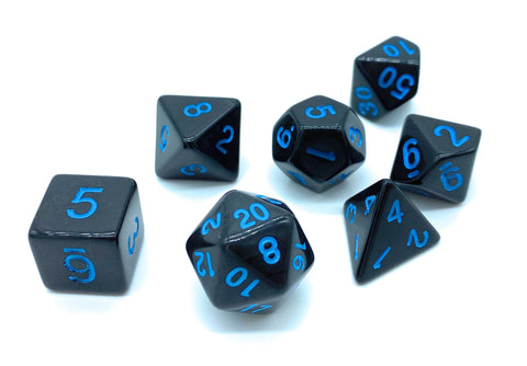 Goliath Dice- Black w/Blue Numbers - Critical Dice
