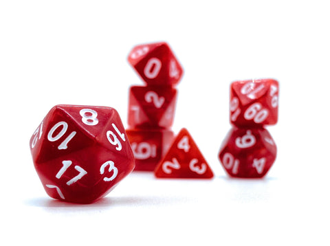 Ember Dice- Solid Red Swirl - Critical Dice