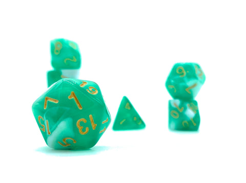 Undead Ichor- Green and White Translucent - Critical Dice