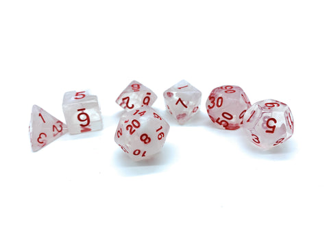 Warlock's Pact- White/Clear Dice - Critical Dice