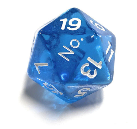 "Critical Dice Set- ""No"" on the ""1"" Dice Critical Dice Blue"