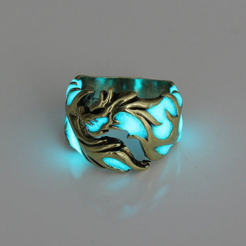 Ring of Dragon Command- Glow-in-the-dark Dragon Ring