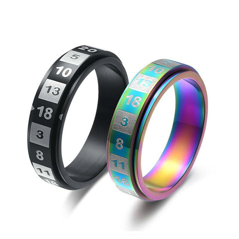 D20 Ring Black/Grey & Multicolored