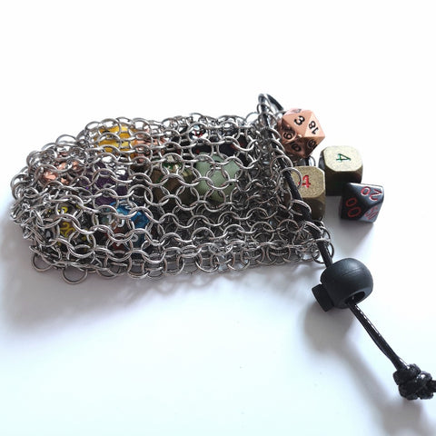 Bag of Invulnerability- Chain Mail Dice Bag