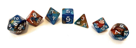 Saltmarsh Dice- Blue/Orange Swirl