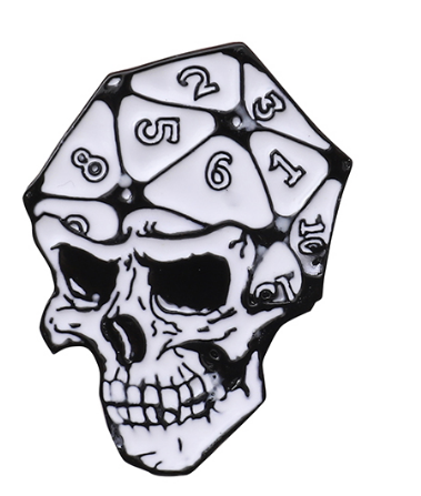 D20 Skull Pin - Critical Dice