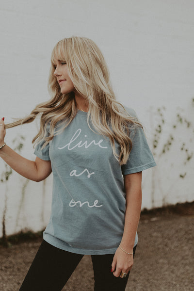 Live As One Tee - Blue