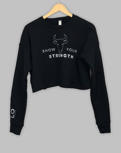 Show Your Strength Cropped Sweatshirt