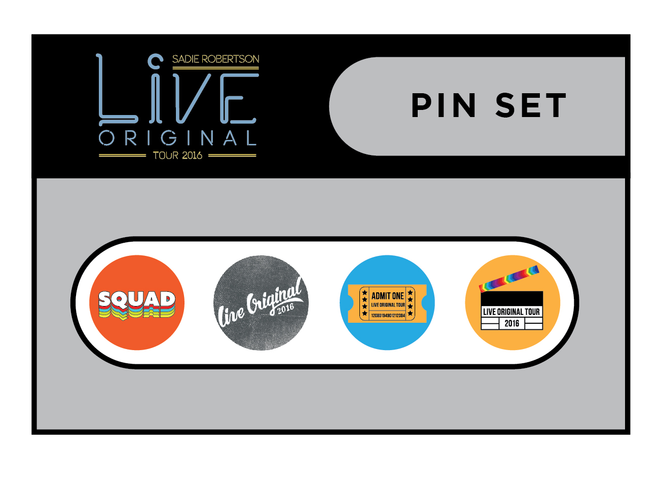 Live Original Pin Set