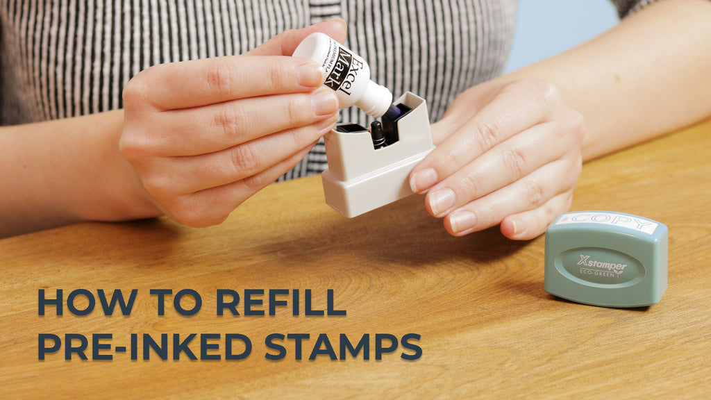 How to Refill Pre-Inked Stamps