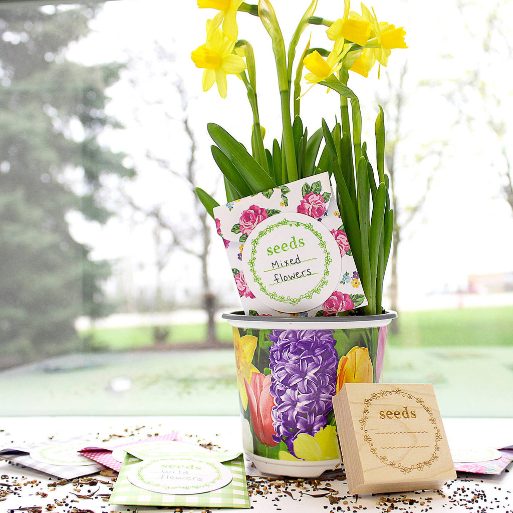 DIY Stamped Seed Packets