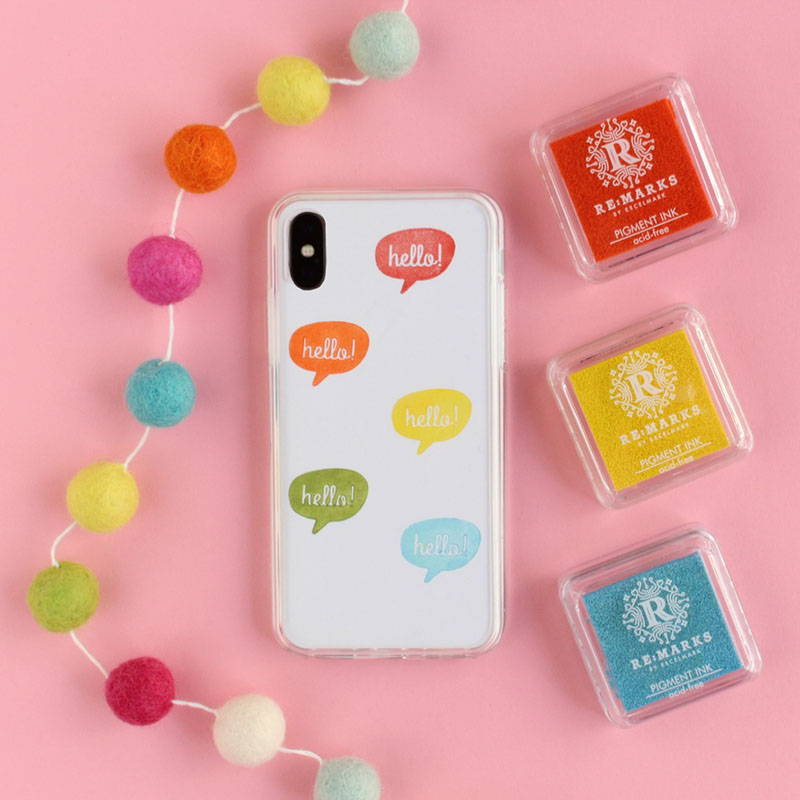 DIY Stamped Phone Cases