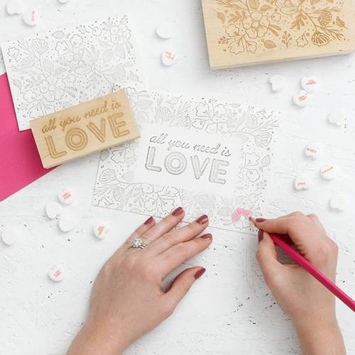 DIY Color-In Valentine's Day Cards