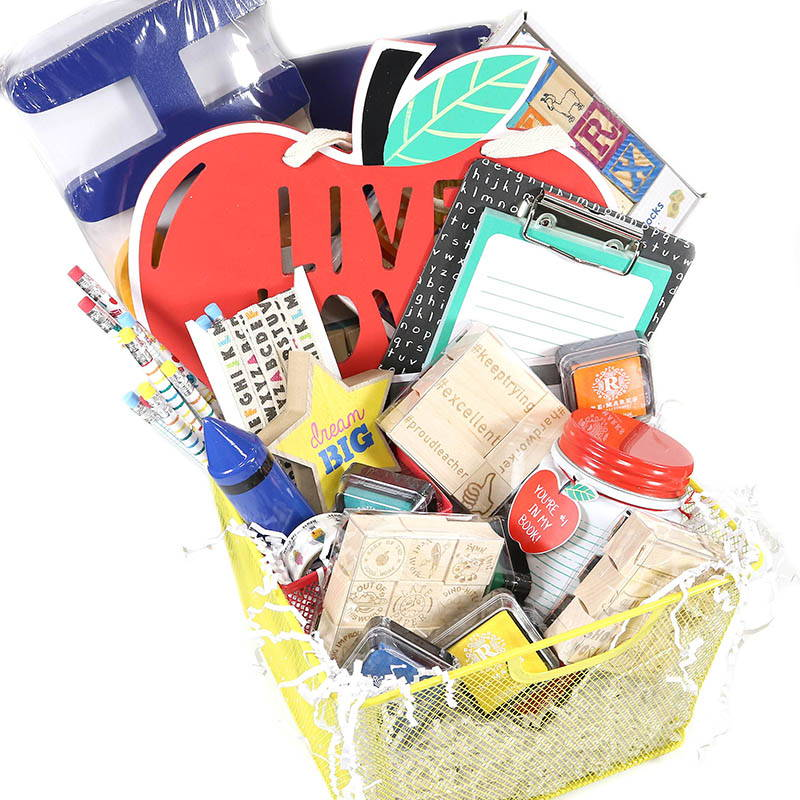 Teacher Stamps Giveaway: Back-To-School Gift Basket!