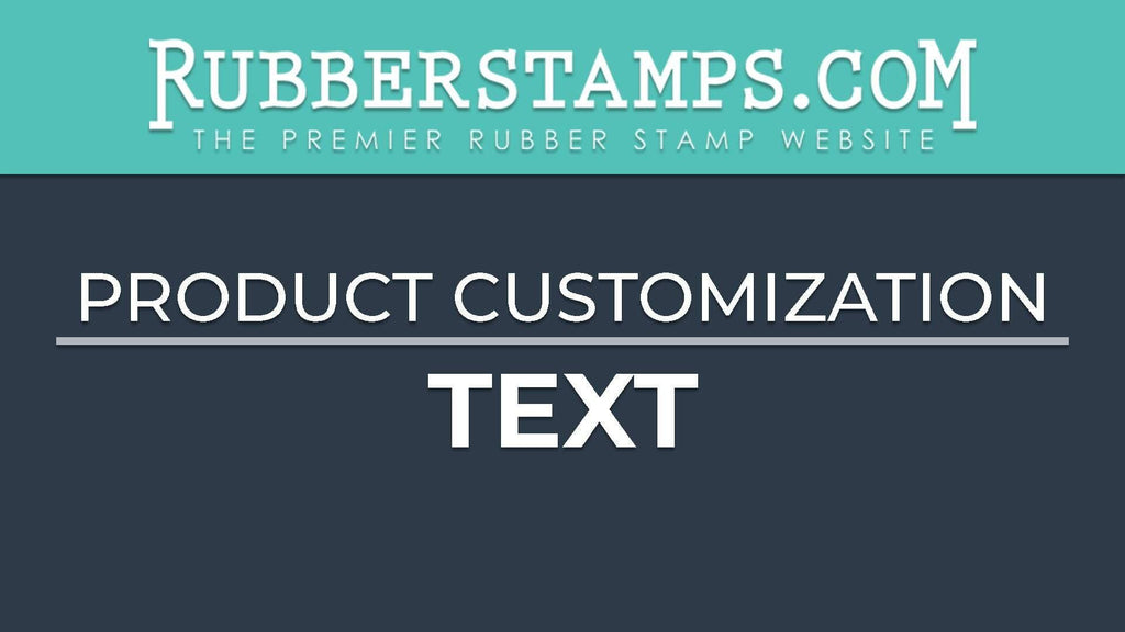 Customize Rubber Stamp With Personalized Text