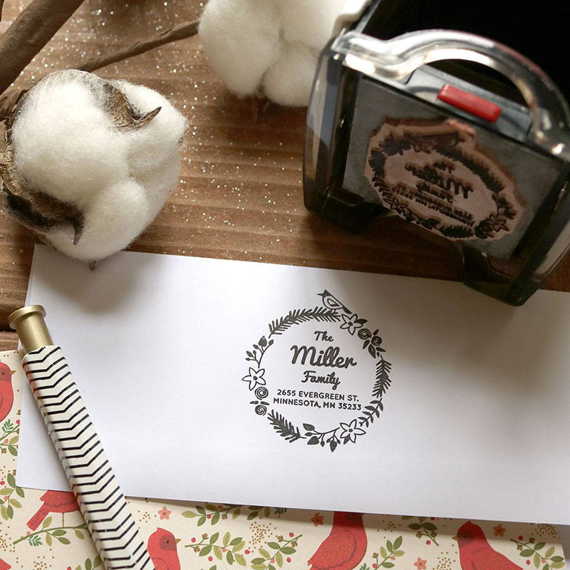 Return Address Stamps for Your Holiday Cards