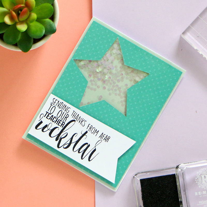 DIY Teacher Appreciation Shaker Card
