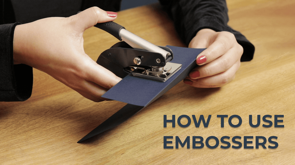 How To Use Embossers