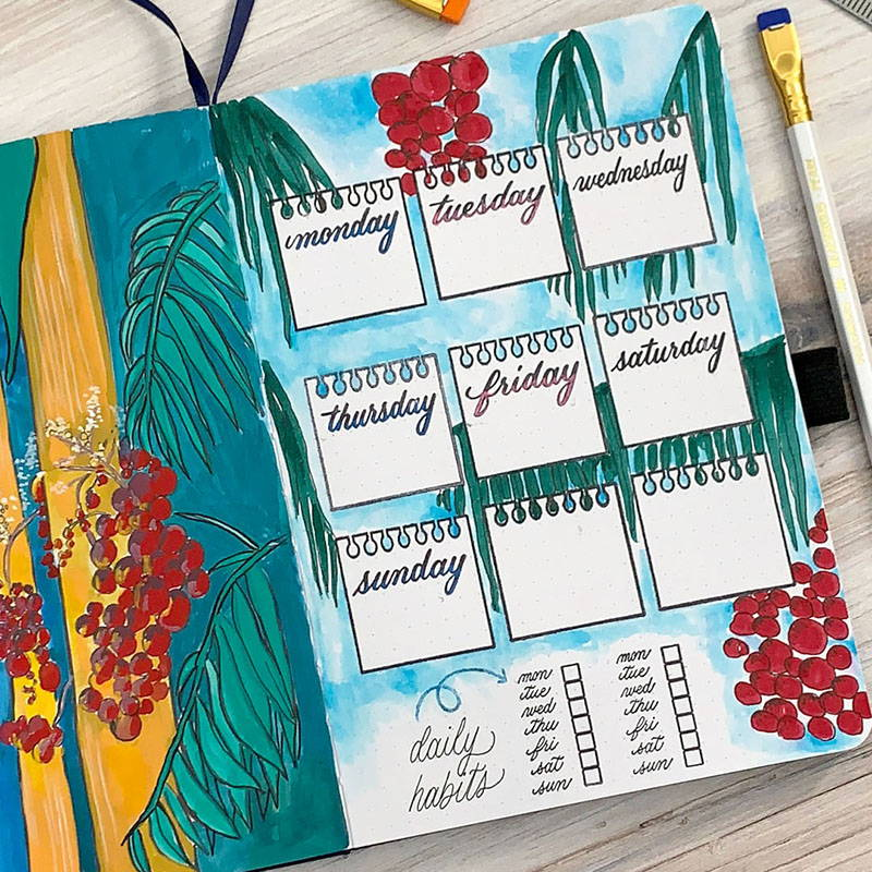 12 Creative Stamped Bullet Journal Ideas