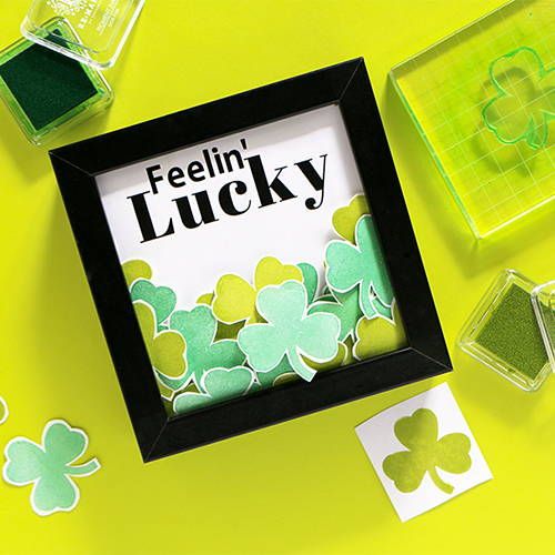 DIY Shamrock Shadow Box Frame