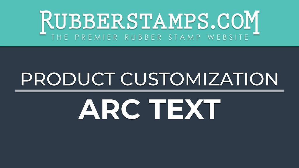 Custom Rubber Stamp With Arc Text