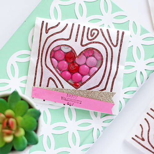DIY Stamped Valentine's Day Treat Bags