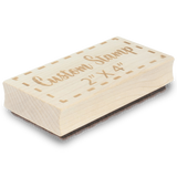 "2"" X 4"" Custom Wood Rubber Stamp"