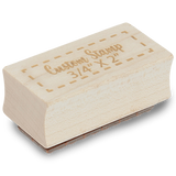 "3/4"" X 2"" Custom Wood Rubber Stamp"