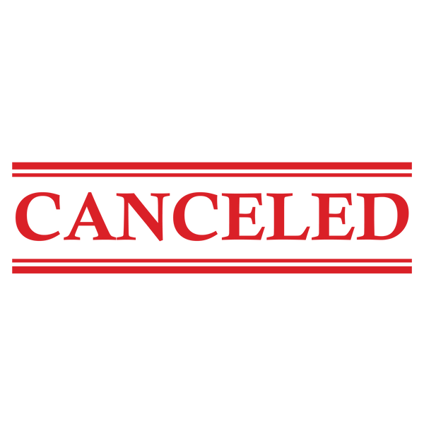 Double Line CANCELED Stamp