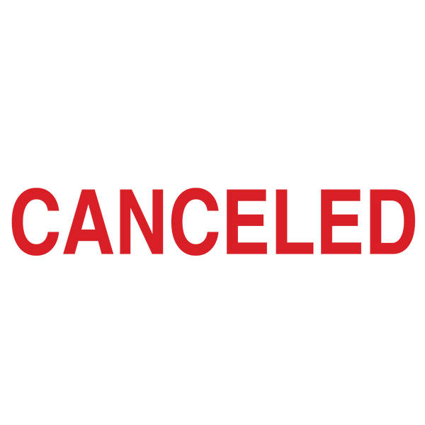 CANCELED Stamp