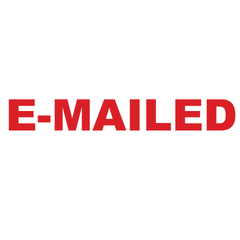 Bold E-MAILED Stamp
