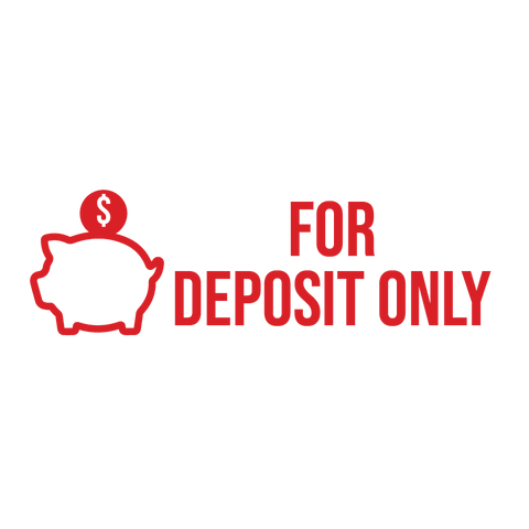 Piggy Bank FOR DEPOSIT ONLY Stamp