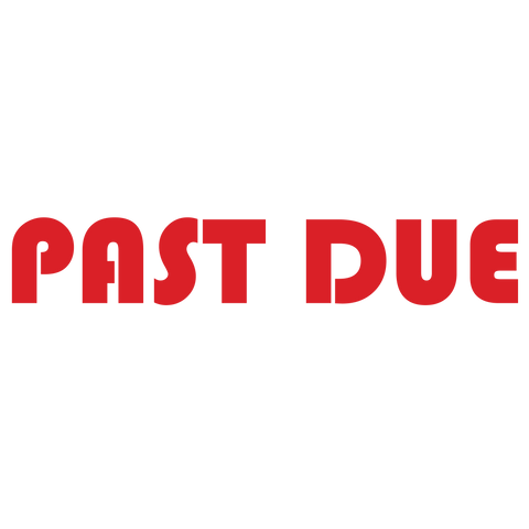 Bold PAST DUE Stamp