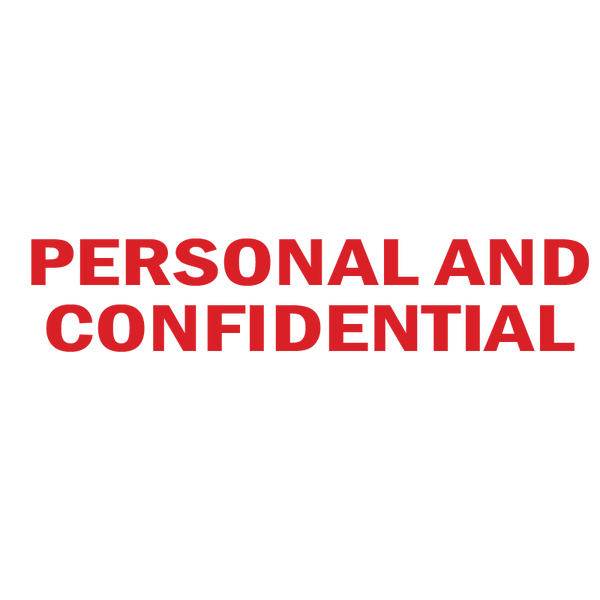 PERSONAL AND CONFIDENTIAL Stamp
