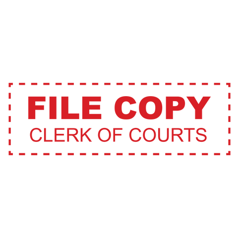 Clerk of Courts FILE COPY Stamp