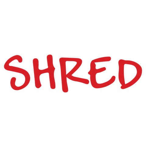 Handwriting SHRED Stamp