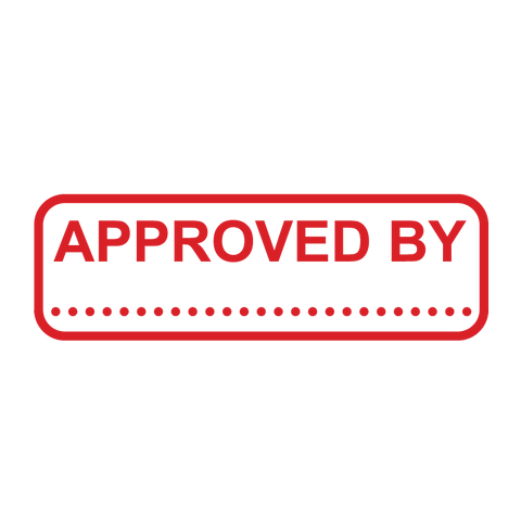 APPROVED BY Stamp