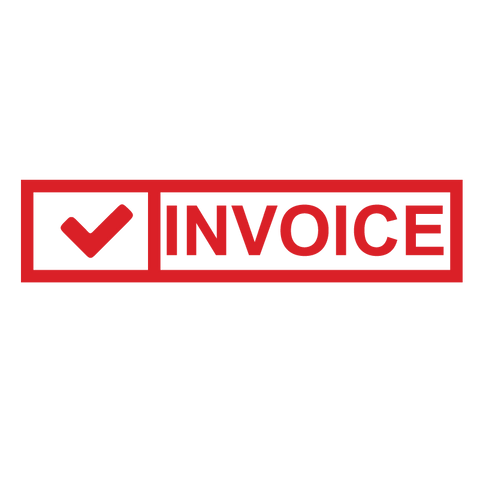 Check Box INVOICE Stamp