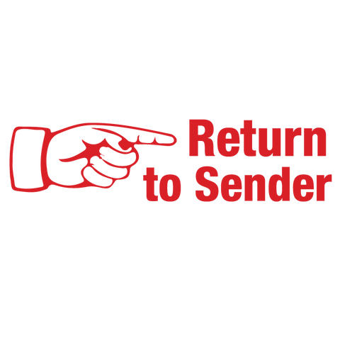 Right Finger RETURN TO SENDER Stamp