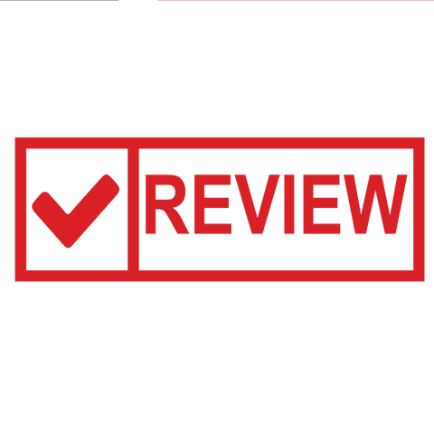 Check Box REVIEW Stamp