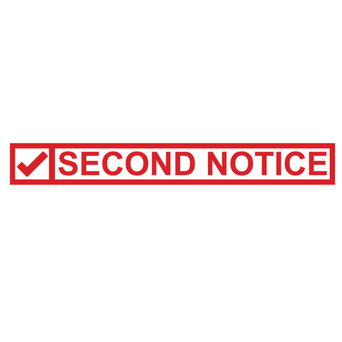Check Box SECOND NOTICE Stamp